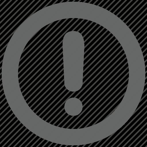 alert, attention, caution, danger, error, exclamation icon
