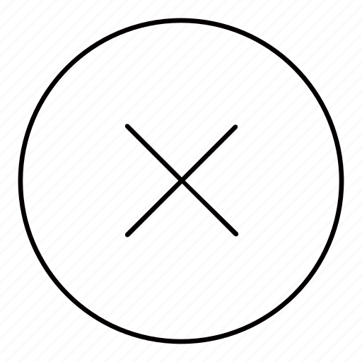 block, cancel, close, delete, denied, exit, remove icon
