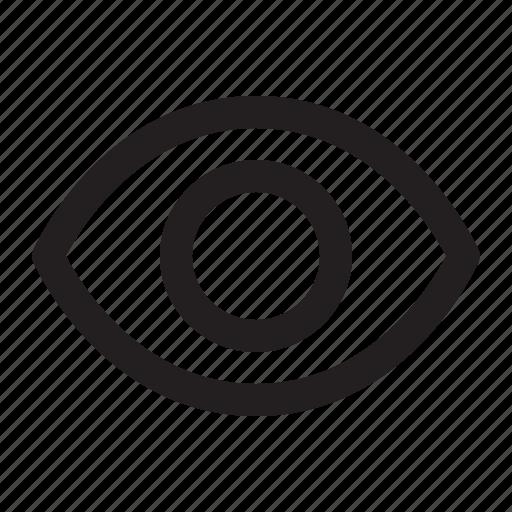 32px, basic, eye, general, job, line, universal icon - Download on Iconfinder