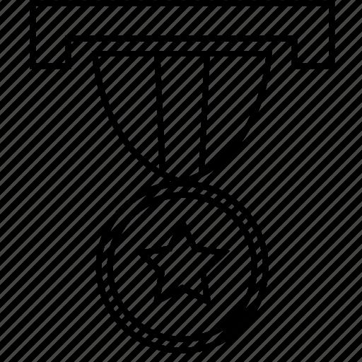 award, locket, medal, medallion icon