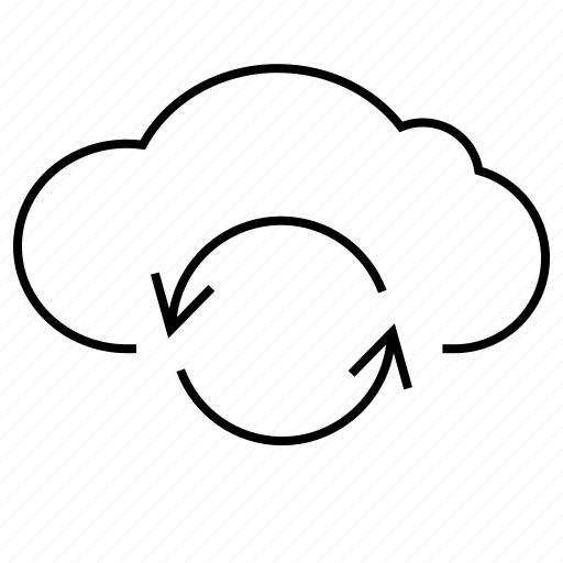 cloud, hosting, refreshing, resfresh, upload, weather icon