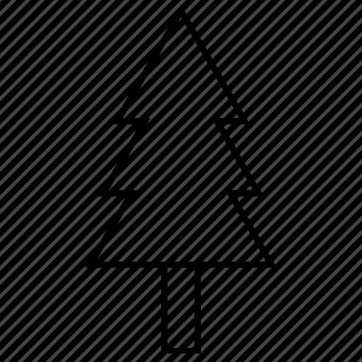 christmas, nature, tree, winter icon