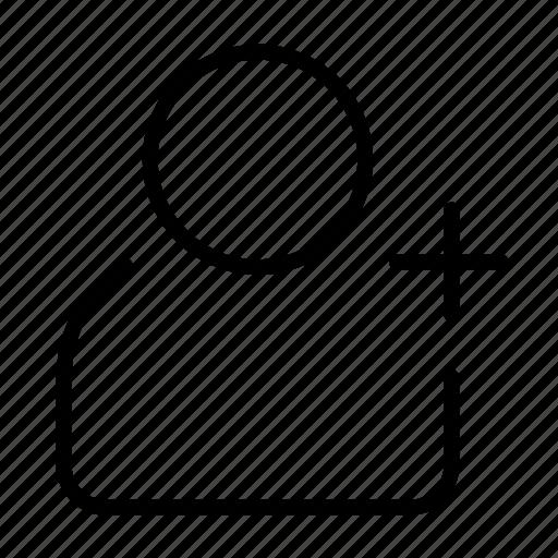 account, add, invite, request, user icon