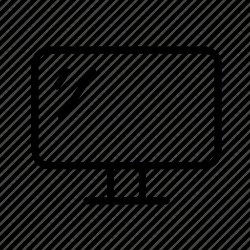 computer, desktop, display, monitor, online icon