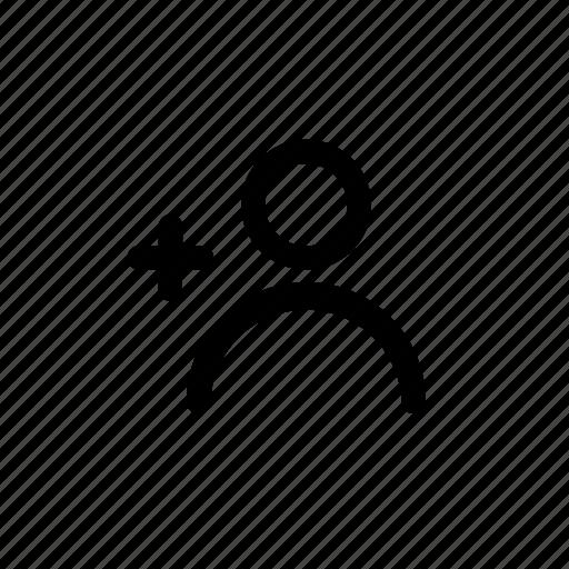 add, add user, avatar, man, person, profile, user icon