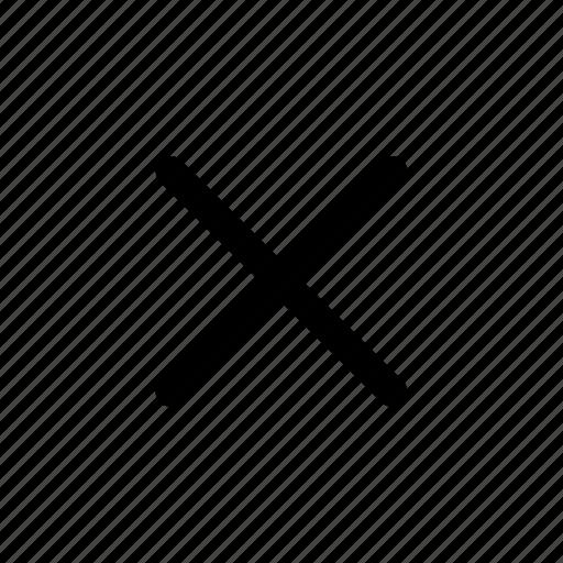 Cancel, close, cross, delete, remove, trash icon - Download on Iconfinder