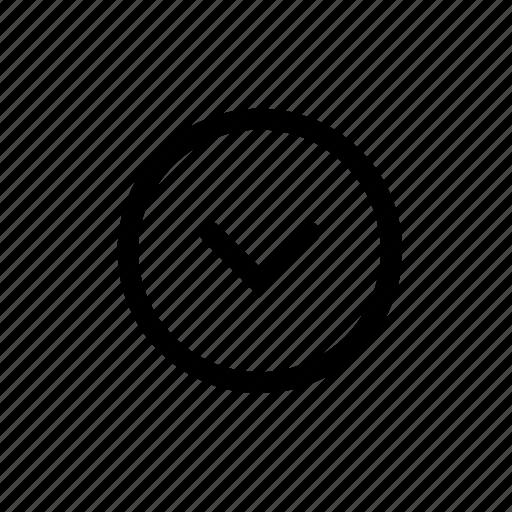arrow, direction, down, round icon