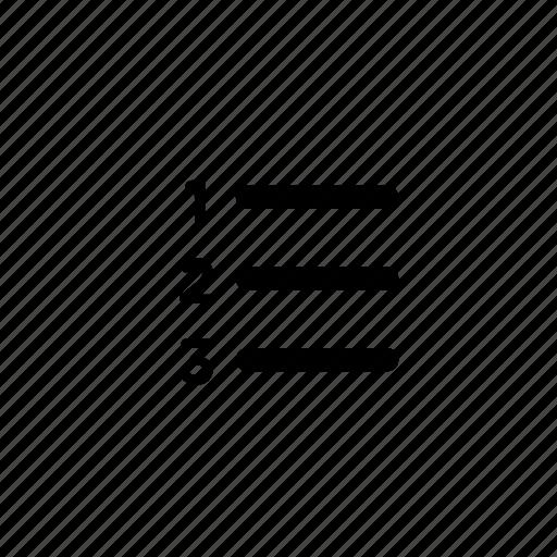 document, list, menu, number icon