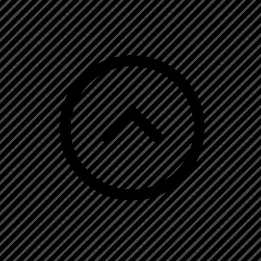 arrow, direction, round, up icon