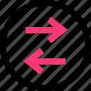 activity, arrows, left, right icon