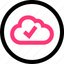 check, cloud, confirmed, data, mark icon