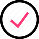 approved, check, confirmed, good, mark icon