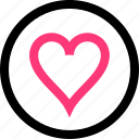 favorite, heart, love, online icon