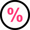 online, percent, percentage, rate icon