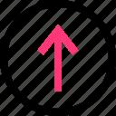 nav, point, up, upload icon