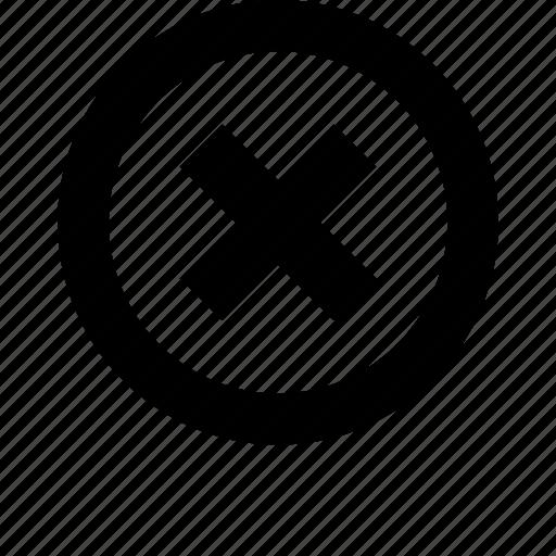 basic, circle, close, cross, delete, office, remove icon