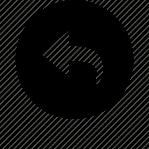 arrow, back, basic, direction, left, open, turn icon
