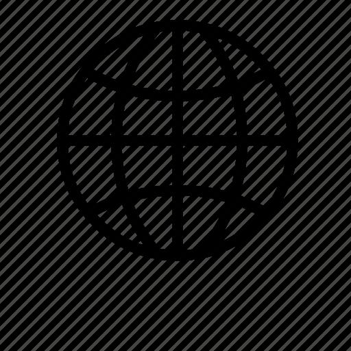 basic, global, globe, latitude, office, planet, world icon