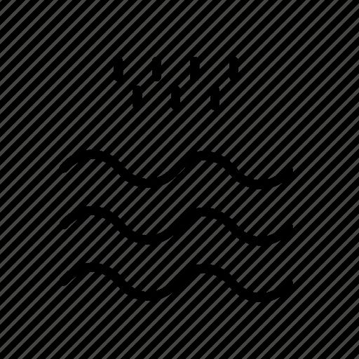 cloudy, rain, river, storm, sun, umbrella icon