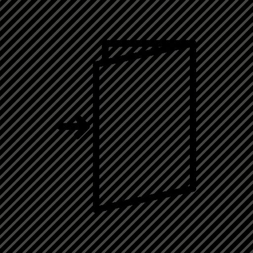 arrow, door, entrance, exit, logout, orientation icon