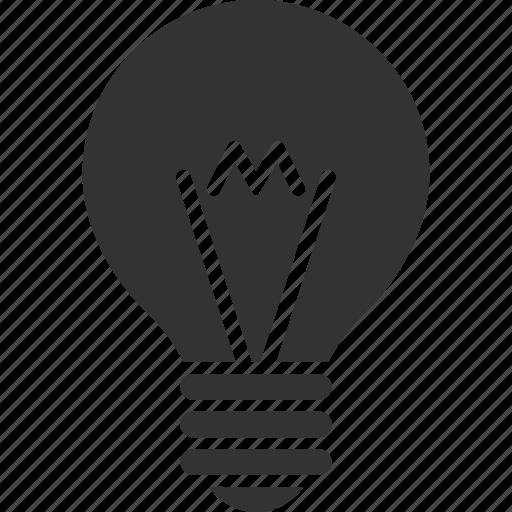 bulb, electrical lamp, electricity, energy, hint, idea, lightbulb icon