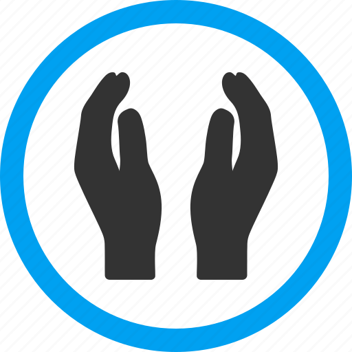 applause, care hands, insurance, keeping palms, protect, protection, shield icon