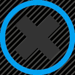 cancel, close, delete, erase, remove, x cross, x-cross icon