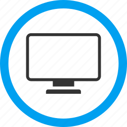 desktop, display, electronic device, equipment, monitor, pc screen, tv set icon