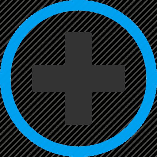 add, create, health care, hospital, medical cross, new, plus icon