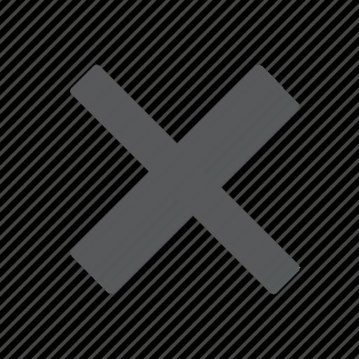 cancel, close, cross, delete, incorrect, remove, stop icon