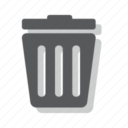 bin, cancel, delete, garbage, remove, throw away, trash icon
