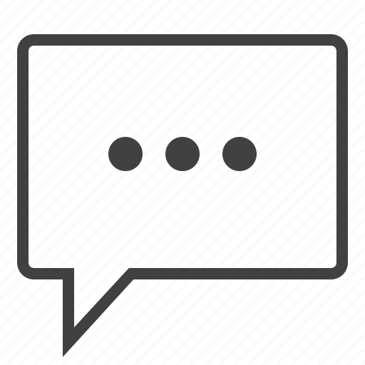 bubble, chat, comment, conversation, loading, talk, text icon