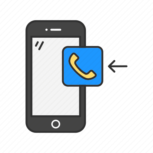 incoming call, message, mobile call, phone icon