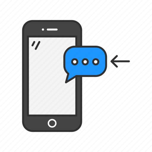 incoming message, message, mobile chat, phone icon