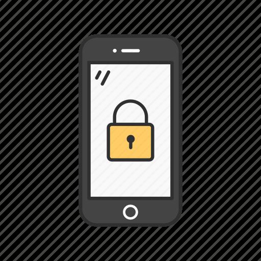 lock, lock phone, phone, private icon