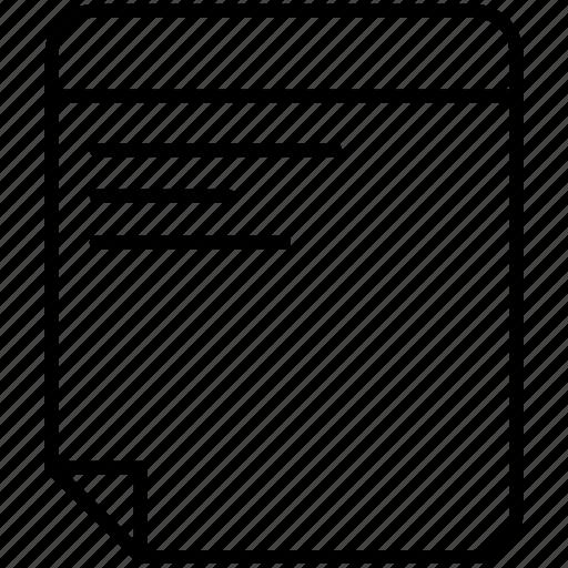 checklist, diary, document, file, list, note, paper icon