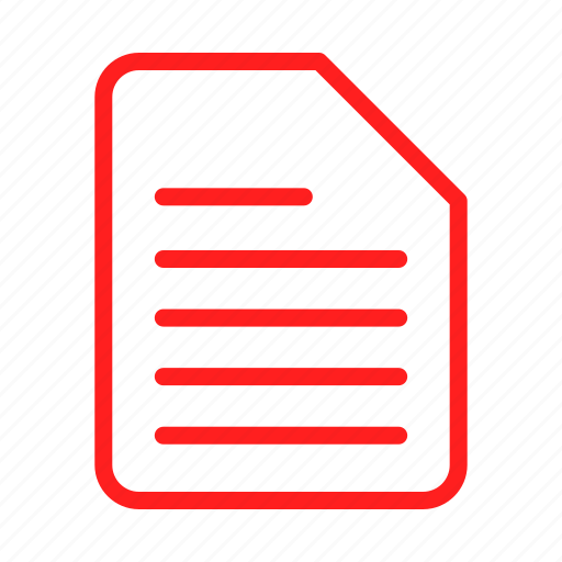 document, documents, file, files, red, sheet, text icon