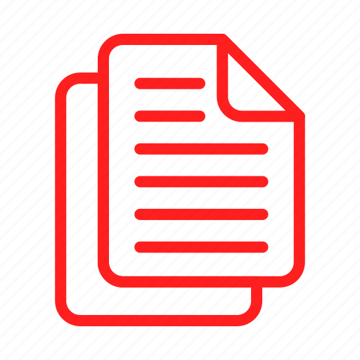 document, documents, file, files, sheet, text icon