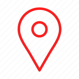 arrow, arrows, direction, maps, point, red icon