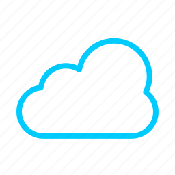 blue, cloud, connection, internet, media, network icon