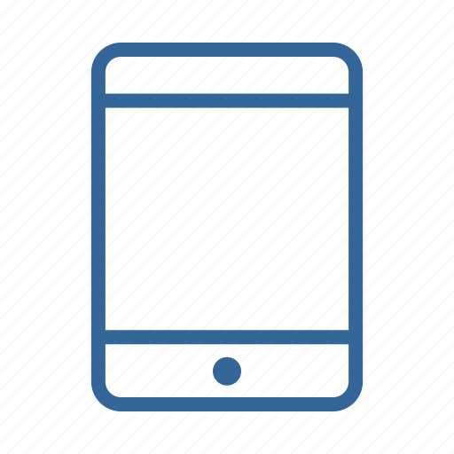 blue, ipad, mobile, phone, smartphone, tablet, technology icon