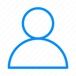 account, avatar, blue, human, people, person, profile icon