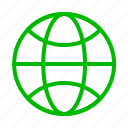 browser, earth, globe, green, internet, network, web icon