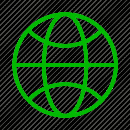 browser, earth, globe, green, internet, network, web icon