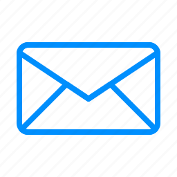 blue, email, envelope, letter, mail, message, post icon
