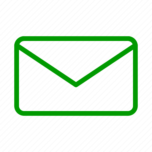 email, envelope, green, letter, mail, message, post icon