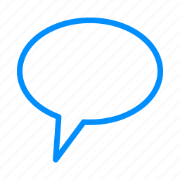 ballon, blue, chat, comment, communication icon