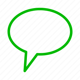 ballon, chat, comment, communication, green icon