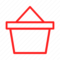 basket, business, buy, cart, ecommerce, purchase, red icon