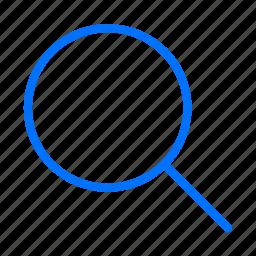 blue, explore, explorer, find, glass, internet, look icon